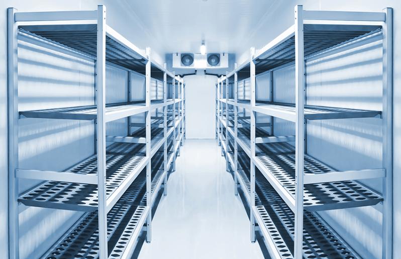 豊富な量を保管する冷蔵設備 床・壁・天井から品質保持を実現する機能性