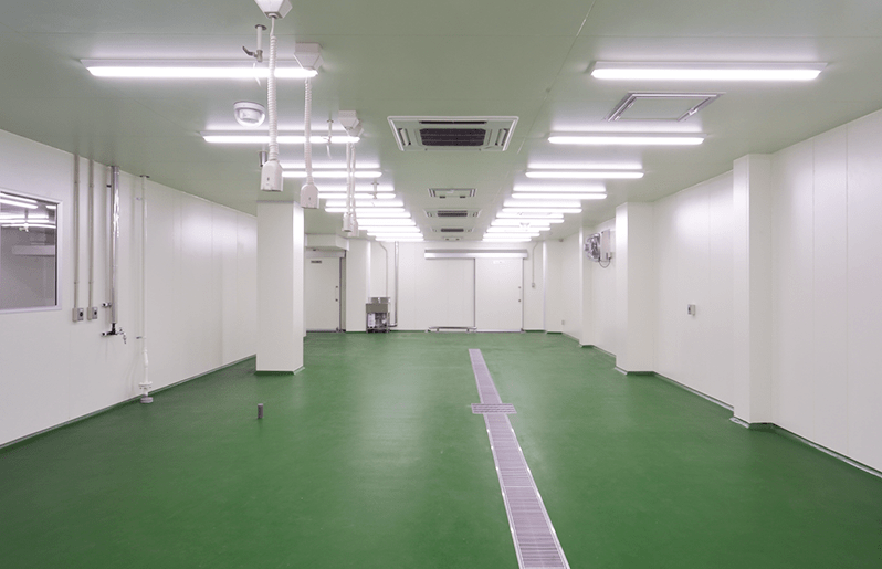 加工スペースで物流業務の迅速化荷捌き室など加工業務に合わせたスペース設計